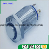 interruptor de tecla do metal de 12mm com a luz do diodo emissor de luz e a função momentânea (altamente lisas)