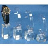 Support d'affichage à cristaux liquides acrylique transparent, porte-affiche Mini Watch