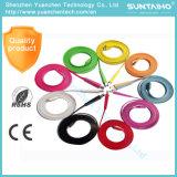 Multicolor plana Micro USB cable de carga para el teléfono móvil Samsung