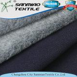 Velluto dello Spandex tinto filato dell'azzurro di indaco che lavora a maglia il tessuto lavorato a maglia del denim per gli indumenti di inverno