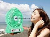 Ventilateur de refroidissement de climatiseur de mini d'USB de ventilateur ventilateur de bureau portatif des ventilateurs électriques DEL avec la fonction rechargeable de côté d'alimentation par batterie