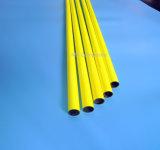 Tubo coloreado alta calidad 18m m de la fibra del carbón 3k