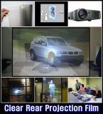 携帯用背面映写のフィルム、ストアウィンドウのための透過ホログラフィック投射のフィルム