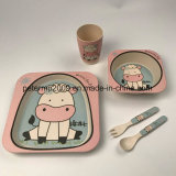 Fibre de bambou écologique Kids vaisselle bol de la cuvette de la plaque de définir la vaisselle de table