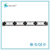 CAT6 24 Port UTP Patch Panel com barra traseira