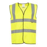 交通安全の保護のための黄色い反射安全実行のベスト