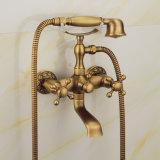 Flg Ensemble de douche en laiton antique avec laiton massif