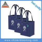 Ecoの非編まれた緑のショッピング再使用可能な袋を折る高品質