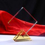 Trofeo negro del vidrio cristalino para los regalos del asunto (KS04044)