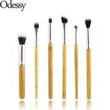 conjunto de cepillos de bambú natural del maquillaje de la belleza del ojo de la maneta 6PCS