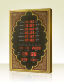 Azan 기도 디지털 시계를 말해 큰 이슬람교도 또는 회교 교당