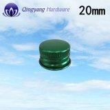 torcedura coloreada venta al por mayor de 20m m del casquillo del aluminio del casquillo del metal