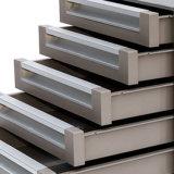 5 camadas de gabinete de armazenamento de alumínio do arquivo com fechamento e lâmpada