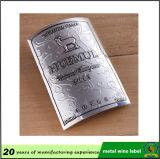 ワインの金属のラベル、カスタムプリント低価格デザイナーラベル