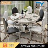 El comedor redondo de los muebles del comedor tabula el vector de banquete