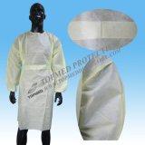 Sac d'isolement jetable pour hôpital SMS, robe d'isolement jaune