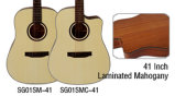 Guitarra acústica del estilo de Dreadnaught de la madera contrachapada de la alta calidad