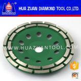 Roda de moedura do copo da fileira do dobro do diamante de Huazuan para a pedra