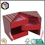 Rectángulo de empaquetado de la cartulina del papel del cajón del regalo rígido del estilo con la cinta