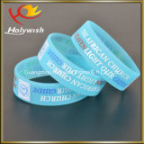 Оптовая таможня силикона Wristband логоса печатание Silkscreen