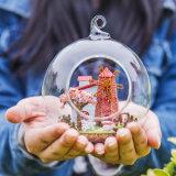 Muebles miniatura caseros ensamblados del Dollhouse del plan de la bola de cristal de la decoración DIY