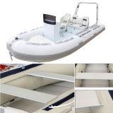 La parte inferior dura de la aleación de aluminio espesa Canoeing del barco de pesca