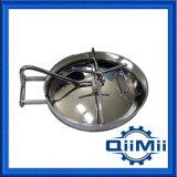 Couvercle elliptique à pression en acier inoxydable avec joint en silicone