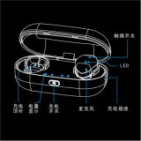 Som superior da qualidade e fone de ouvido ergonómico, confortável de Bluetooth do projeto