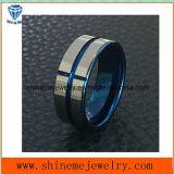 Joyería plateada azul del anillo del tungsteno de la alta calidad de la joyería de Shineme (TST2871)