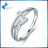 2017 anello di barretta di Zircon di goccia dell'acqua dell'argento sterlina dell'anello di cerimonia nuziale di originale 925