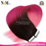 Extensões de cabelos de fita de pele desenhada dupla de cabelo de alta qualidade Straight Hair
