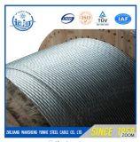 1/4 3/8 5/16 7/16 toron métallique en acier galvanisé par A475 de faisceau de messager d'ASTM