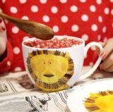 Migliore ciotola di minestra di ceramica multicolore grande di vendita con il cucchiaio da vendere