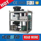 máquina de gelo da câmara de ar 1t/24hrs pequena com a caixa especial da tampa