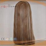 Волос Remy девственницы верхнего качества 100% Toupee периметра PU верхней части Handtied людских полный Mono (pppg-l-0787)