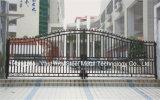 Haohanの良質の外部の機密保護の装飾的な錬鉄の塀のゲート5
