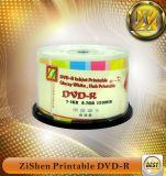 Pleine face imprimable jet d'encre blanche 4.7GB DVDR (Zishen DVDR 16X)