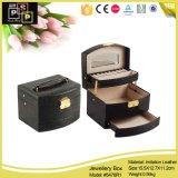 Proveedor chino pequeña caja de embalaje de joyería de papel redondo de color rosa