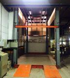 Ascenseur de véhicule de plate-forme de levage hydraulique d'arbre avec la porte de roulement facultative
