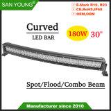 Curved Offroad Barra de LED luz de condução 4X4 30polegadas Barra de luz LED de 180 W