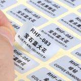 Etiqueta adesiva transparente adesiva personalizada do papel de impressão do PVC da cor adesiva
