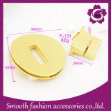 Acessórios girados forma da ferragem do fechamento do saco das bolsas da placa de ouro do metal