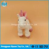 Het promotie Stuk speelgoed van de Pluche van de Gift Kleine Witte Roze Paard Gevulde