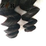 Afrouxar cabelo de tecelagem brasileiro não processado do cabelo humano do Virgin da onda
