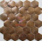 Mattonelle di mosaico d'ottone utilizzate decorazione della parete (CFM1087)