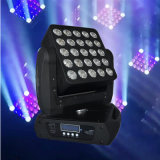 중국 Supplier 25X10W 4in1 Matrix LED Moving Head Stage Lighting