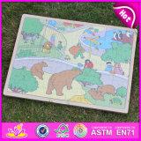 2015 Nouveau Puzzle en bois jouet, Puzzle en bois jouet, Preschool Puzzle en bois jouet W14C240