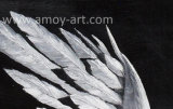 Abstract Angel Wings canvas peinture d'art art en noir et blanc