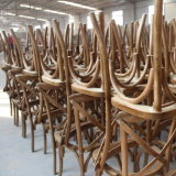熱い販売の普及した宴会の中国の木の十字Xの背部藤のシートの椅子