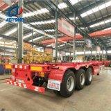Aotong 20FT/40FT 판매를 위한 확장 가능한 해골 콘테이너 트레일러 또는 콘테이너 포좌